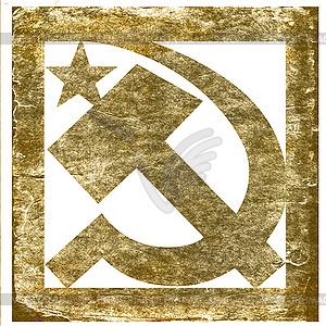 Sowjetisches Symbol im Gungestil - Vektor-Clipart / Vektor-Bild