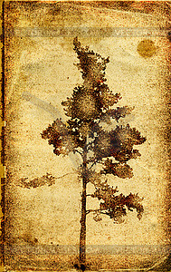 Grunge-Hintergrund mit einem Baum - Vektor-Illustration