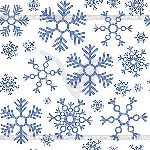 Nahtloser Hintergrund von Schneeflocken - Vektor-Abbildung