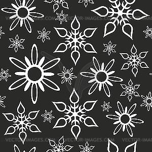 Nahtloser Hintergrund von Schneeflocken - Clipart-Design