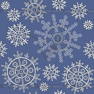 Nahtloser Hintergrund von Schneeflocken - Vector-Illustration