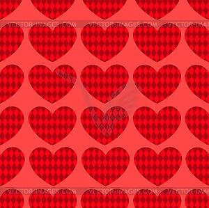 Nahtlose Herz Muster 1 - Vector-Clipart / Vektorgrafik