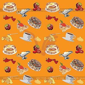 Hintergrund mit Pfannkuchen - Vector-Illustration