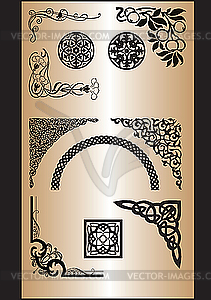 Ornamentale Ecken - Vector-Bild