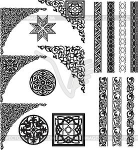 Arabische Ornament und Ecken - Vektor-Clipart / Vektor-Bild