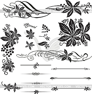 Ornamente mit den wilden Trauben - Clipart