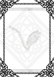 Rahmen Arabisch - Vektor-Illustration