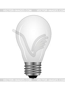 Ball-förmiges Leuchtstofflämpchen - Vektor-Klipart