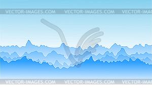 Blaues Gebirge - Vector-Clipart