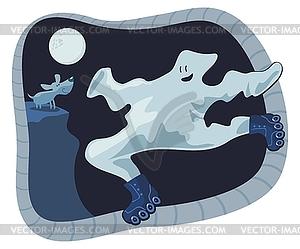 Ghost-Karikatur - Vector-Clipart / Vektor-Bild