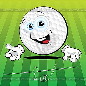 Lustiger Golf-Ball - Vektor-Skizze