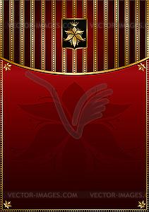 Rotgoldener Hintergrund - Vektorgrafik