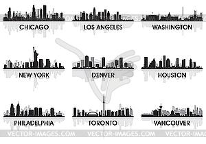 Set von Skylines - Clipart-Bild