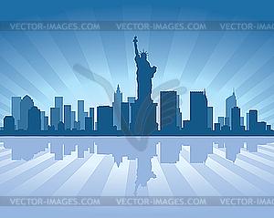 Skyline von New York - Vector-Clipart EPS