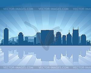 Skyline von Nashville - vektorisierte Abbildung