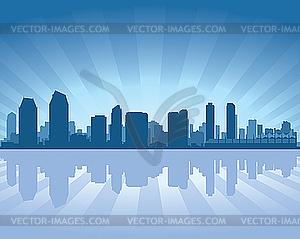 Skyline von San Diego - vektorisiertes Bild