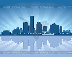 Skyline von Milwaukee - Vector-Clipart