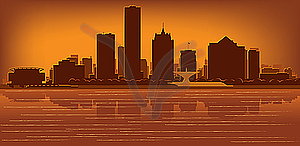 Skyline von Milwaukee - Vector-Design