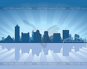 Skyline von Memphis - Vektor-Abbildung