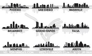 Amerikanische Städte - Vektorgrafik