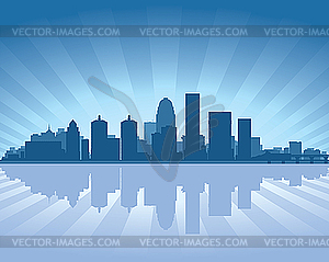 Skyline von Louisville - Vector-Clipart EPS
