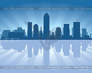 Indianapolis - Skyline - Vektor-Design