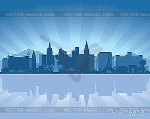 Las Vegas, Nevada - Skyline - Vektorgrafik-Design