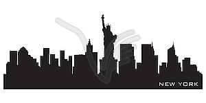 Skyline von New York - Clipart-Design