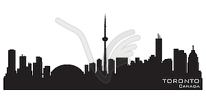 Toronto Kanada Skyline. Detaillierte Silhouette - Royalty-Free Clipart