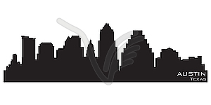 Skyline von Austin - Stock-Clipart