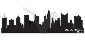 Skyline von Columbus - Vektor Clip Art