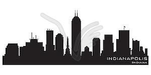 Skyline von Indianapolis - Klipart