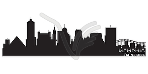 Skyline von Memphis - Vector-Design