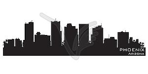 Phoenix, Arizona Skyline. Detaillierte Silhouette - Vektor-Klipart