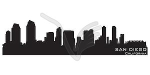 San Diego - Skyline - Vektor-Clipart / Vektorgrafik