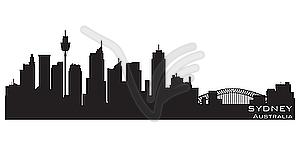Sydney, Australien Skyline. Detaillierte Silhouette - Vektor-Clipart EPS