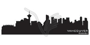 Skyline von Vancouver - Vektor-Klipart
