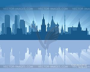 Skyline von Moskau - Vektor-Klipart