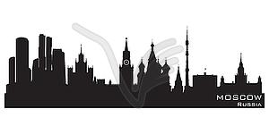 Skyline von Moskau - Vector Clip Art