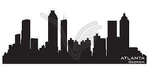 Skyline von Atlanta, Georgia. Detaillierte Silhouette - Vektor-Clipart / Vektorgrafik