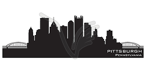 Skyline von Pittsburgh - Vektor-Design