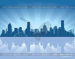 Melbourne, Australien - Skyline - Vektor-Bild
