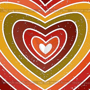 Valentine Grußkarte im Grunge oder Retro-Stil. - Vektor-Skizze