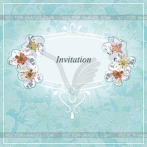 Einladung zur Hochzeit - Vector-Abbildung