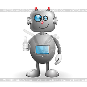 Cartoon-Roboter - Vector-Clipart / Vektor-Bild