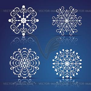 Dekorative Schneeflocken Set - vektorisiertes Clip-Art