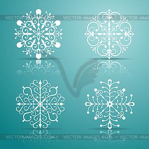 Dekorative Schneeflocken Set - vektorisiertes Design
