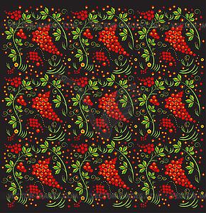 Russisches Chochloma-Muster - Vektor-Illustration