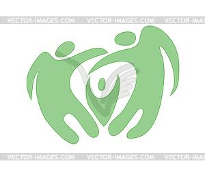 Icon von Familie - Vektor-Clipart / Vektor-Bild