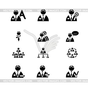 Icons mit Menschen - Vektorgrafik-Design